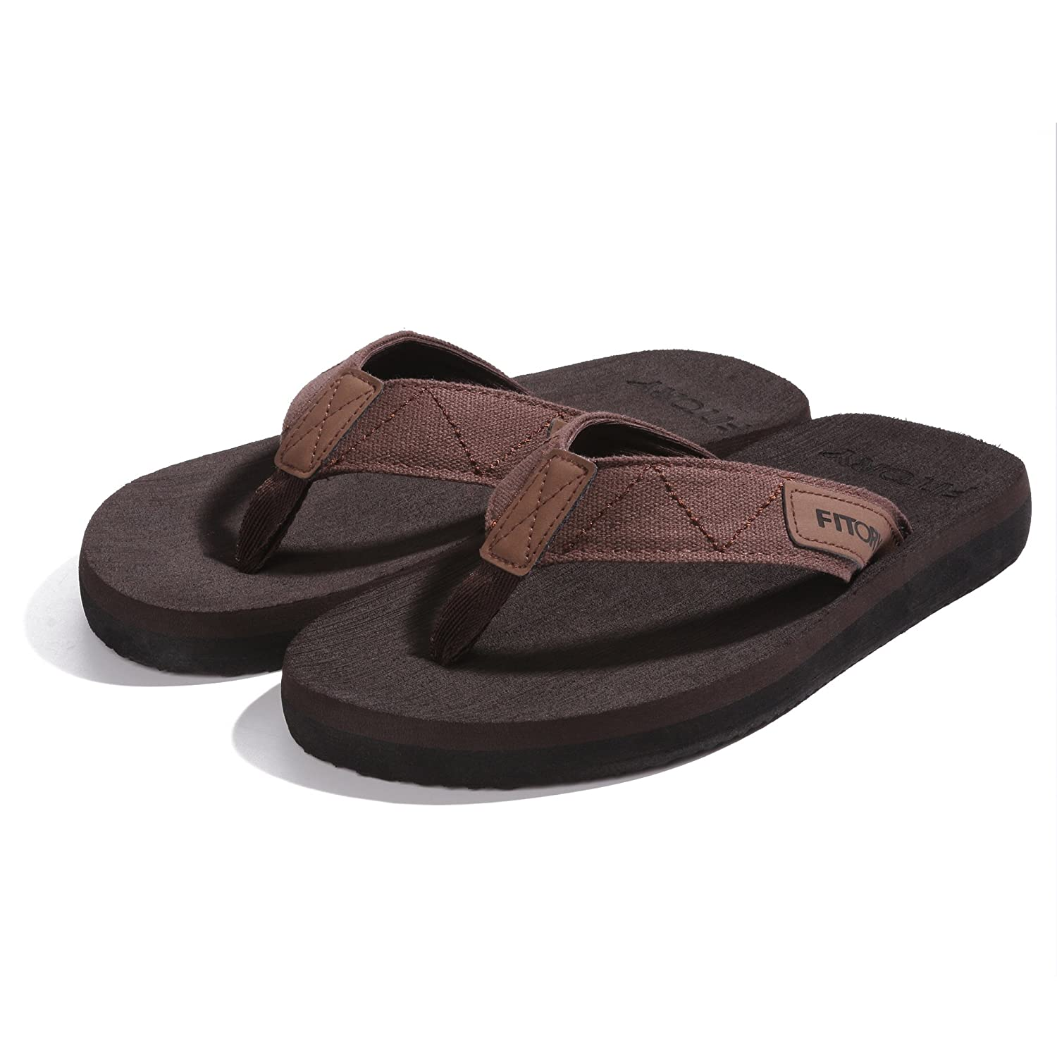 05a48f116bd4a FITORY Men s Flip-Flops Thongs Comfort Slippers for Beach Pool   Amazon.co.uk  Shoes   Bags