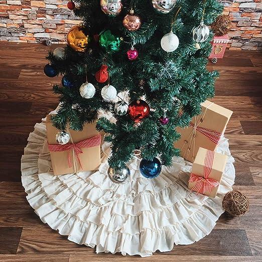 PICTURESQUE Falda Beige de Árbol de Navidad Multicapa Decoración ...