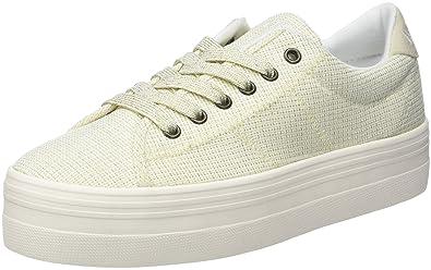 No Name Plato Sneaker Fortune, Baskets Basses Femme, Blanc (White), 36 fdc08c9b5080