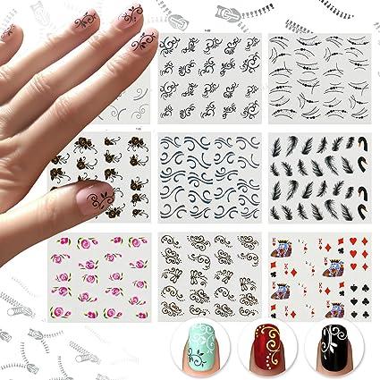 Nicedeco Lot de 15 pcs water decal pour les ongles Nail Art Stricker  Pattern Mélangés Autocollant c6b906dae507