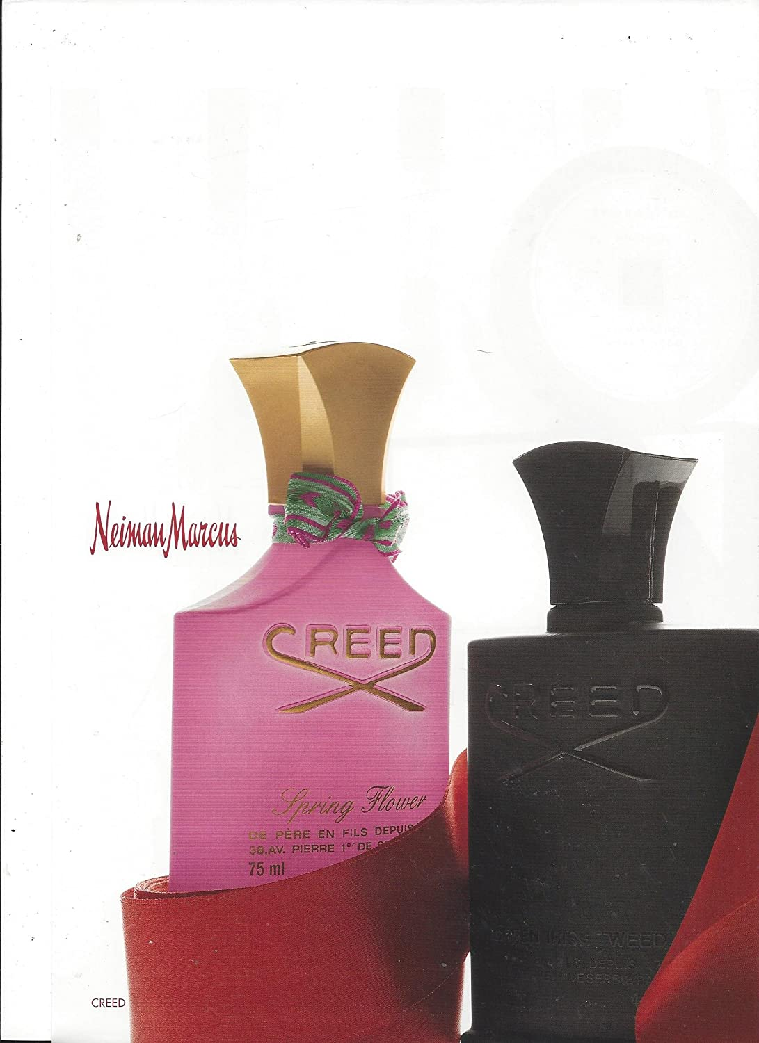 Magazine Advertisement For Creed Spring Flower Fragrance For Neiman