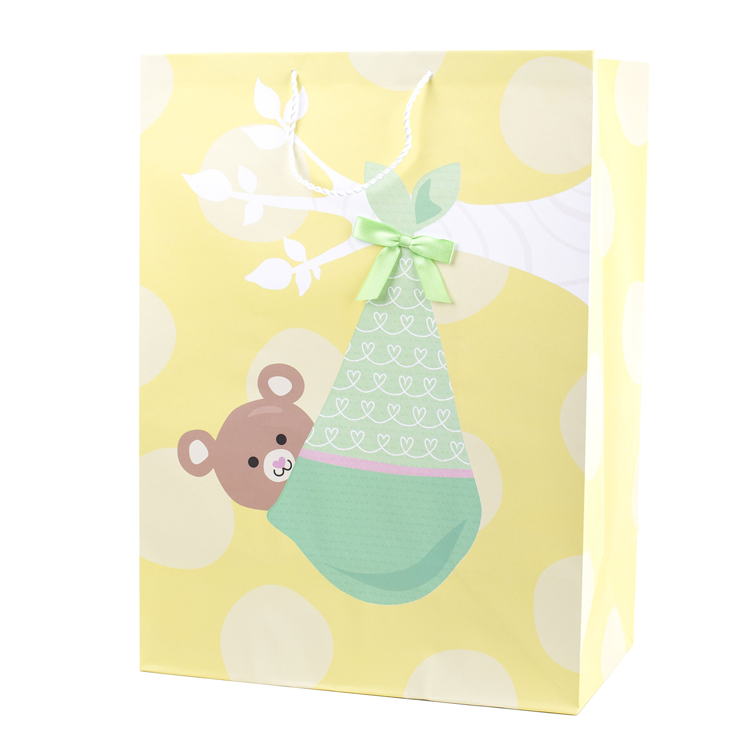 Amazon gift wrap bag tissue paper pastel colors 25 sheets 20 x hallmark mega gift bag bear in blanket negle Images