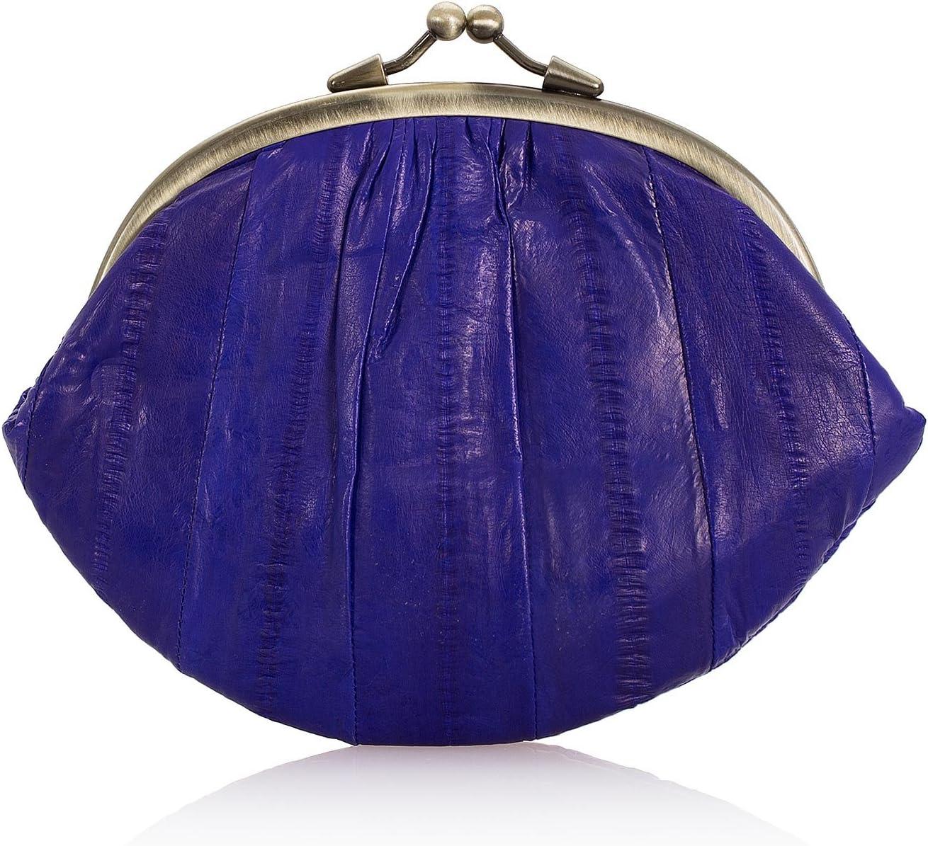 Monedero de piel para mujer Becks/öndergaard color morado dise/ño de piel de /árabe