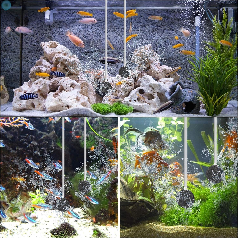 Powerful Oxygen Pump for Fish Tank 10-500 Liter NO.17 Adjustable Aquarium Air Pump 5W 2 5L//min Double Outlets Fish Tank Air Pump for air stone,Sponge Filters