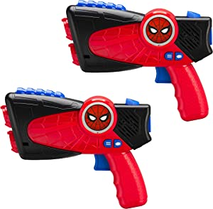 Spiderman Far from Home Laser-Tag for Kids Infared Lazer-Tag Blasters Lights Up & Vibrates When Hit (Frustration Free Packaging)