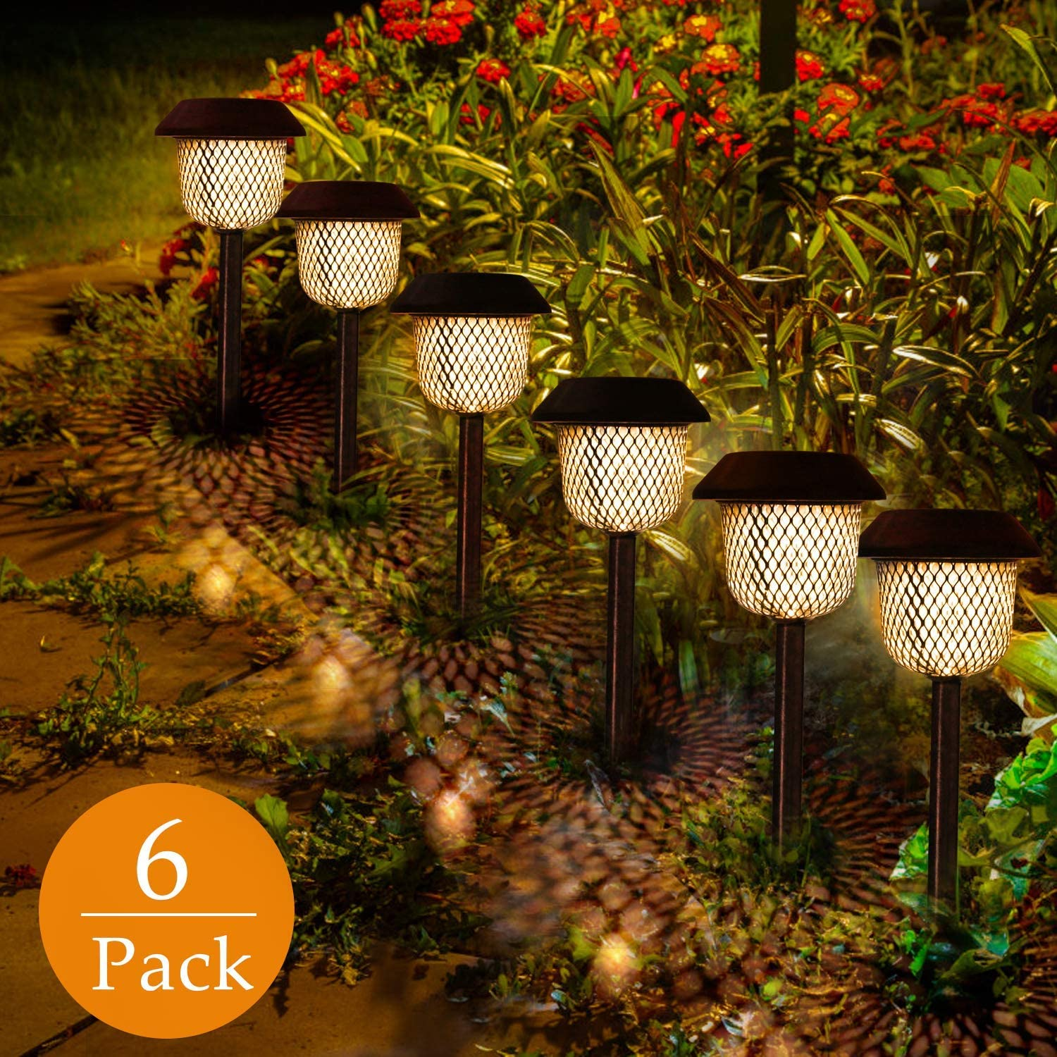 12x STAINLESS STEEL SOLAR LIGHTS POWERED GARDEN POST PATH LED LAWN PATIO