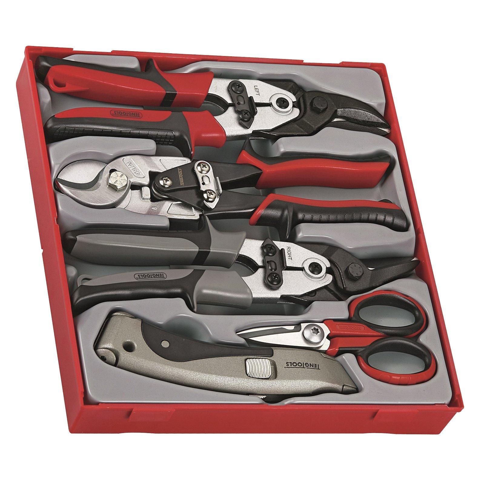 Teng Tools TTDCT05 5 Piece Cutting Tool Set by Teng Tools