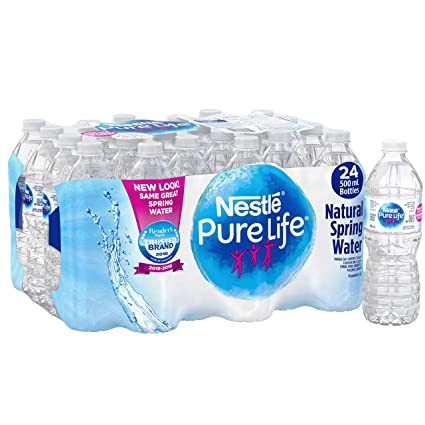 2d38198be9 Nestle Pure Life 100% Natural Spring Water 24 Count, 500ml: Amazon.ca:  Grocery