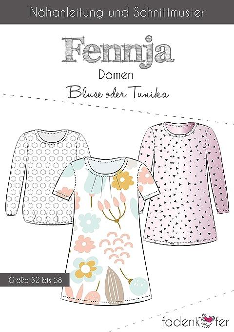 Brittschens FENNJA - Camisa de Tela e Ingredientes, patrón de ...