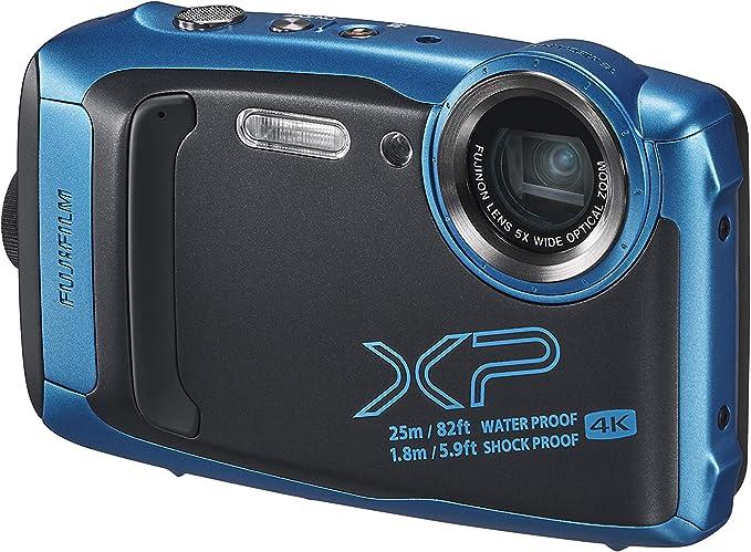Fujifilm 16613562 Appareil Photo Argentique XP140 3 pouces, 16,4 Mpix, 5 X, Bluetooth, WiFi, Bleu