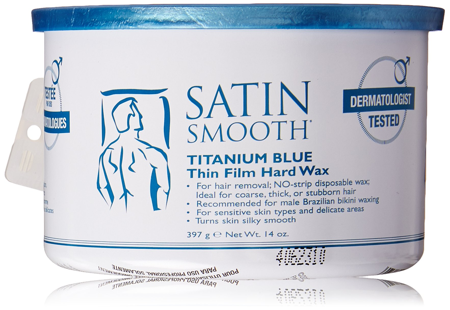 Satin Smooth Titanium Blue Wax, 14 Ounce