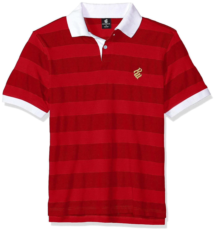 RocawearメンズBig and Tallバッジポロシャツ B0798H9PFK Medium|レッド(True Red) レッド(True Red) Medium