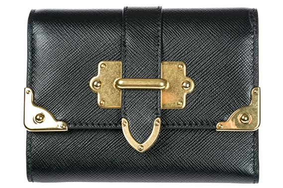 39107179c1f1 ... coupon for prada womens leather wallet black 832c4 fab92