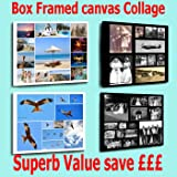 Your Photo Collage Canvas Print - Personalised on Box/Wrapped 24x16 inch
