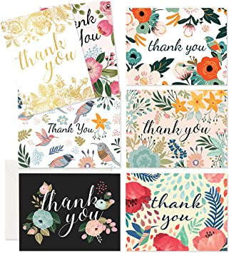 PERSONALISED WEDDING THANK YOU CARD WITH MATCHING ENVELOPE PACK OF 10 CARDS