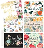 Thank You Cards – 37 Beautiful Thank You Card – Blank Cards – White Envelopes Included - Bridal, Baby Showers and Business (37 Pack - Bonus 24K Gold Series Card)