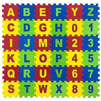 QUICK SILVER Alphanumeric MAT Puzzle (17x17cmx8.5mm)- Pack of 36 Pieces