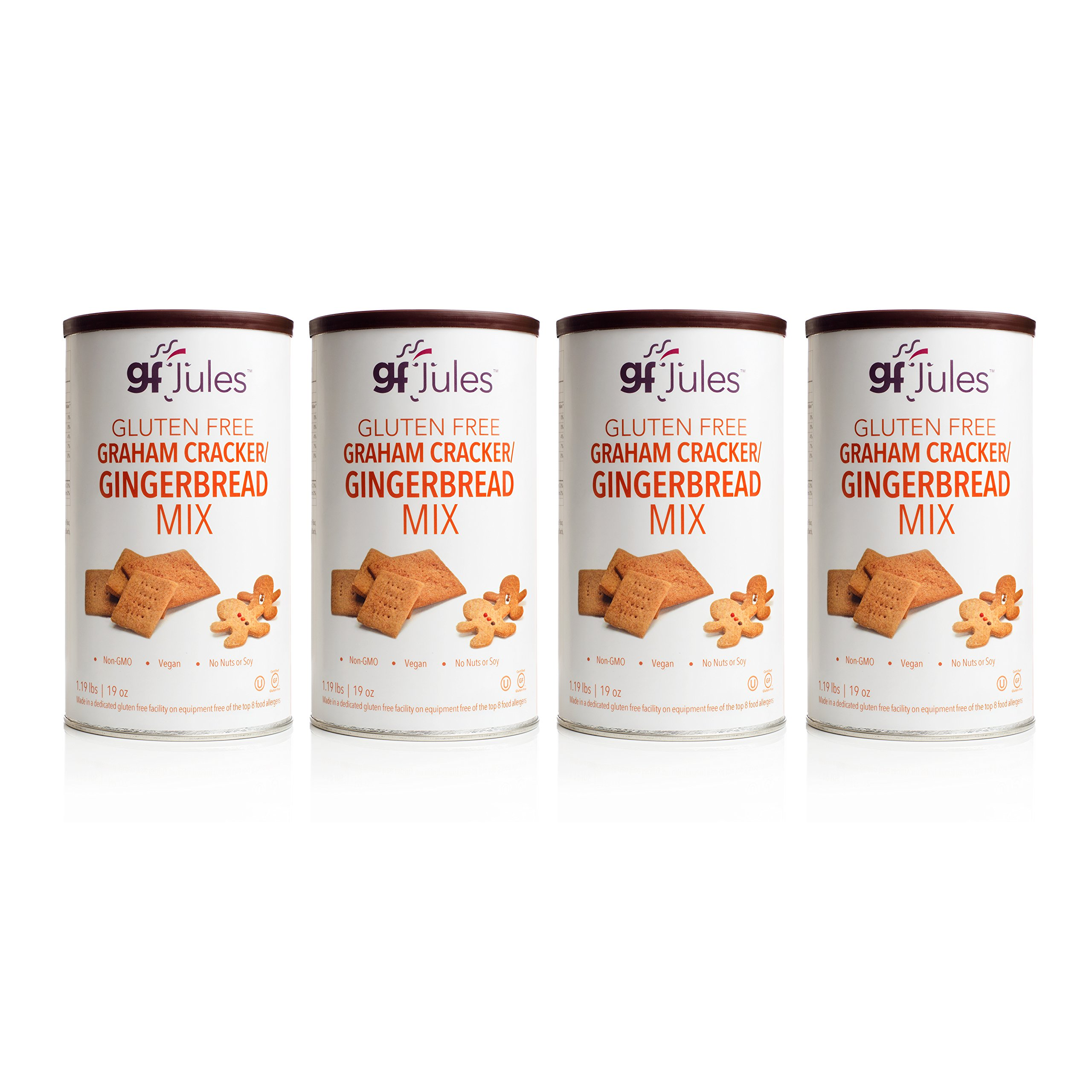 gfJules Gluten Free Graham Cracker - Gingerbread Mix 1.19 lbs, Pack of 4 by gfJules