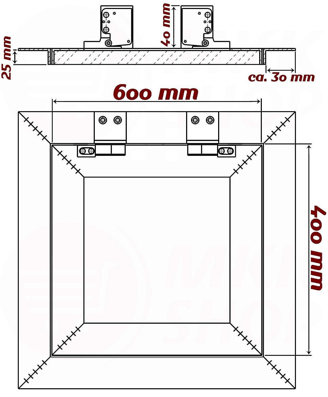 150 x 150 mm Revisionsklappe GK-Einlage gr/ün 25 mm Gipskarton Revisionst/ür Wartungst/ür Alu 1