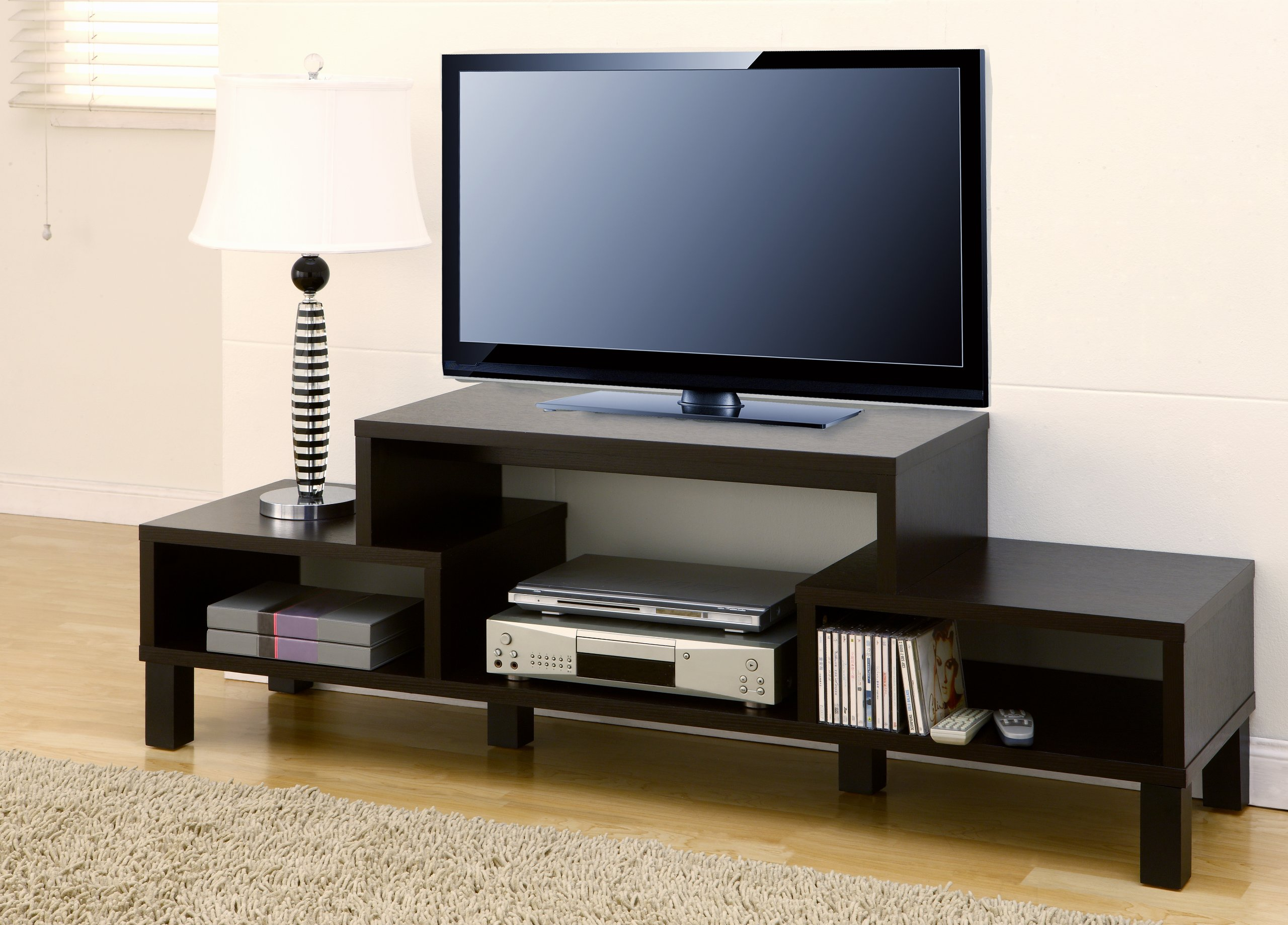 Denis Contemporary Style 60'' TV Console/Stand, Cappuccino by Furniture of America