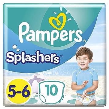 Pampers Splashers Größe 5-6, 10 Einweg-Schwimmwindeln