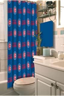 Chicago Cubs Fabric Shower Curtain