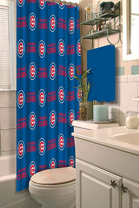 Amazon Com The Northwest Company Chicago Cubs Fabric Shower