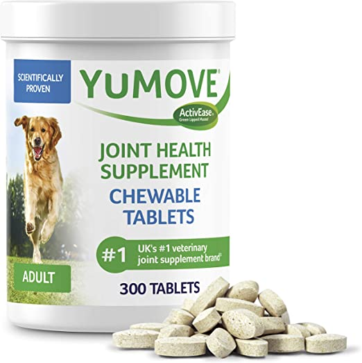 YuMOVE Dog Joint Supplement, Hip and Joint Supplement for Dogs with Sustainably Sourced Glucosamine, Hyaluronic Acid, and Green Lipped Mussel and Omegas, Relief for Dog Hip and Joint Aches