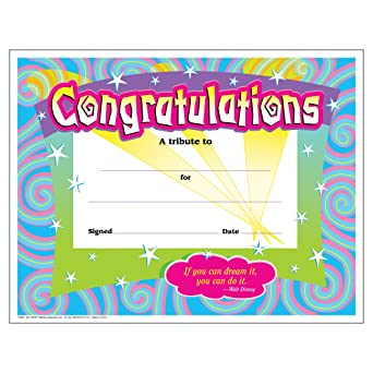 amazon トレンド 賞状カード おめでとう うずまき 30枚入り trend