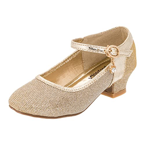 2e23e13a chochoula - Zapatos de Vestir de Material Sintético para niña, Color Dorado,  Talla Gr.30: Amazon.es: Zapatos y complementos