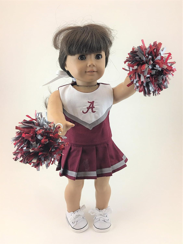 18 Doll Cheerleading Outfit w/Alabama Logo