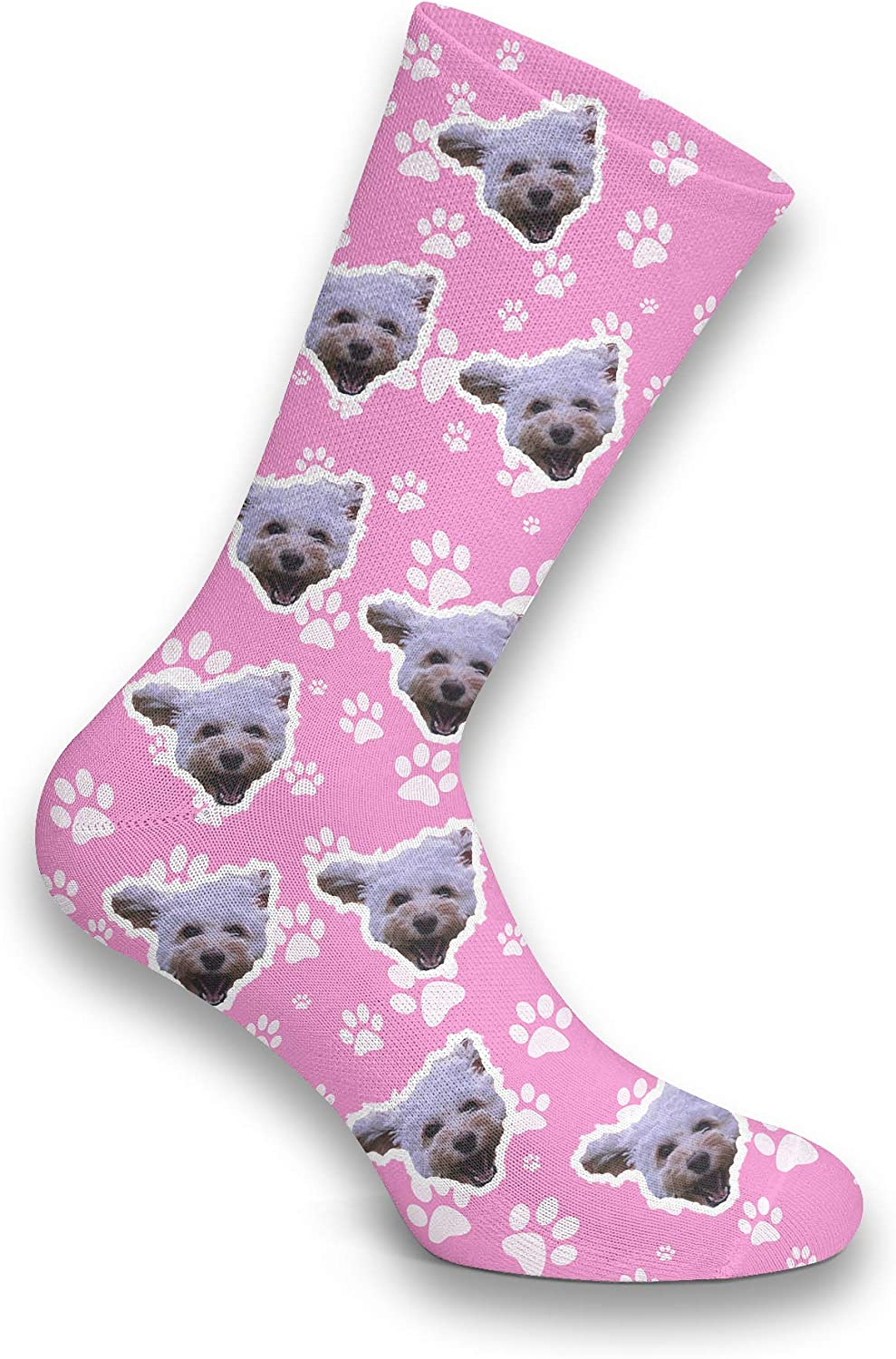 Add Your Pets Face Custom Picture Socks Personalised Pet Face Photo Socks Dog Cat Add Any Pet