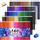 DigHealth colored pencil oil-based colored pencils 160 colored pencil set the best pencil sharpener with eraser for children and for adults Coloring and gifts