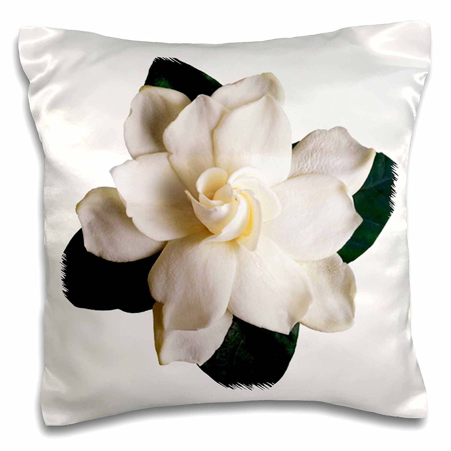 3dRoseGardenia Throw Pillow Covers 16 x 16 White