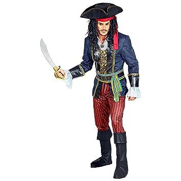 WIDMANN 09533 Disfraz de capitán pirata para hombre, multicolor, L ...