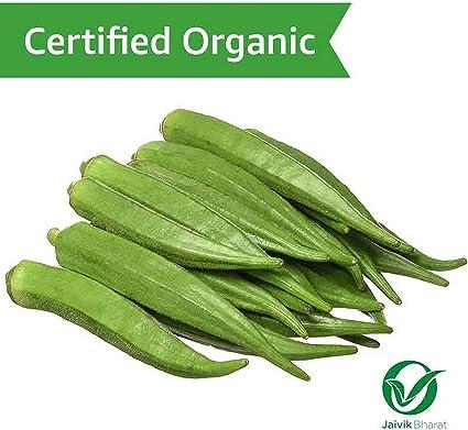 Fresh Organic Bhindi/Okra, 500g
