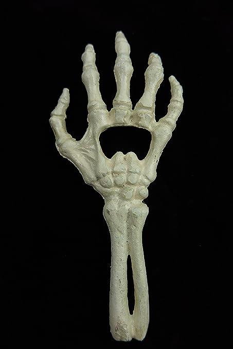 Clever Deko Human Skeleton Hand Cast Iron Bottle Opener Beer Opener