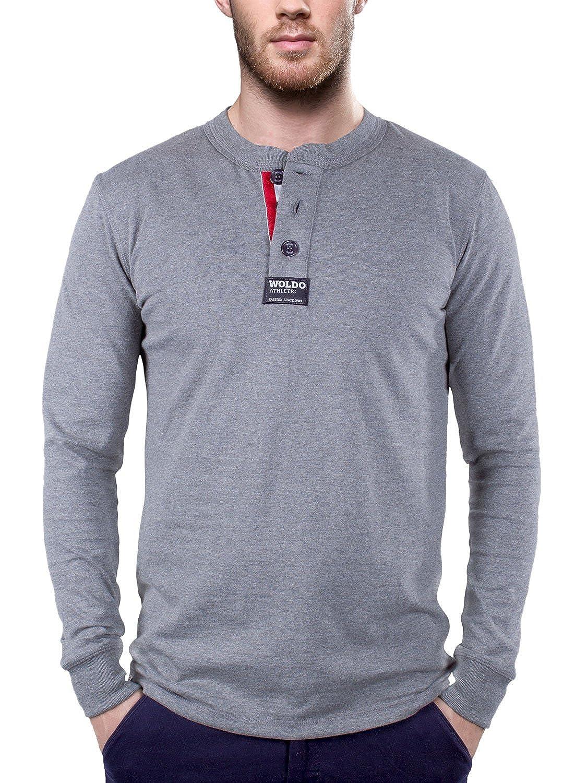 WOLDO Athletic Herren Longsleeve Langarm-Shirt Rugby Polo Rundhals  Amazon. de  Bekleidung 9c7311a046