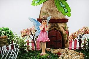 NW Wholesaler - Fairy Garden Fairy Figurines Hand Painted Miniature Fairies (Surprised Fairy)