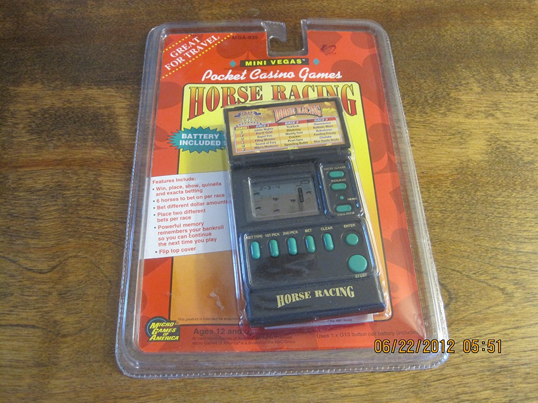 満点の [ミニラスベガスカジノ]Mini Vegas Pocket Casino Games Horse Racing MGA-835 [並行輸入品] B008E0PTPE, 木彫り 置物 のwood&life 4ebd86a7