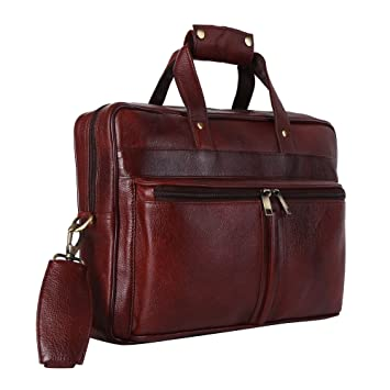 684fffc894 Hammonds Flycatcher Leather Brown Laptop Bag  Amazon.in  Bags ...