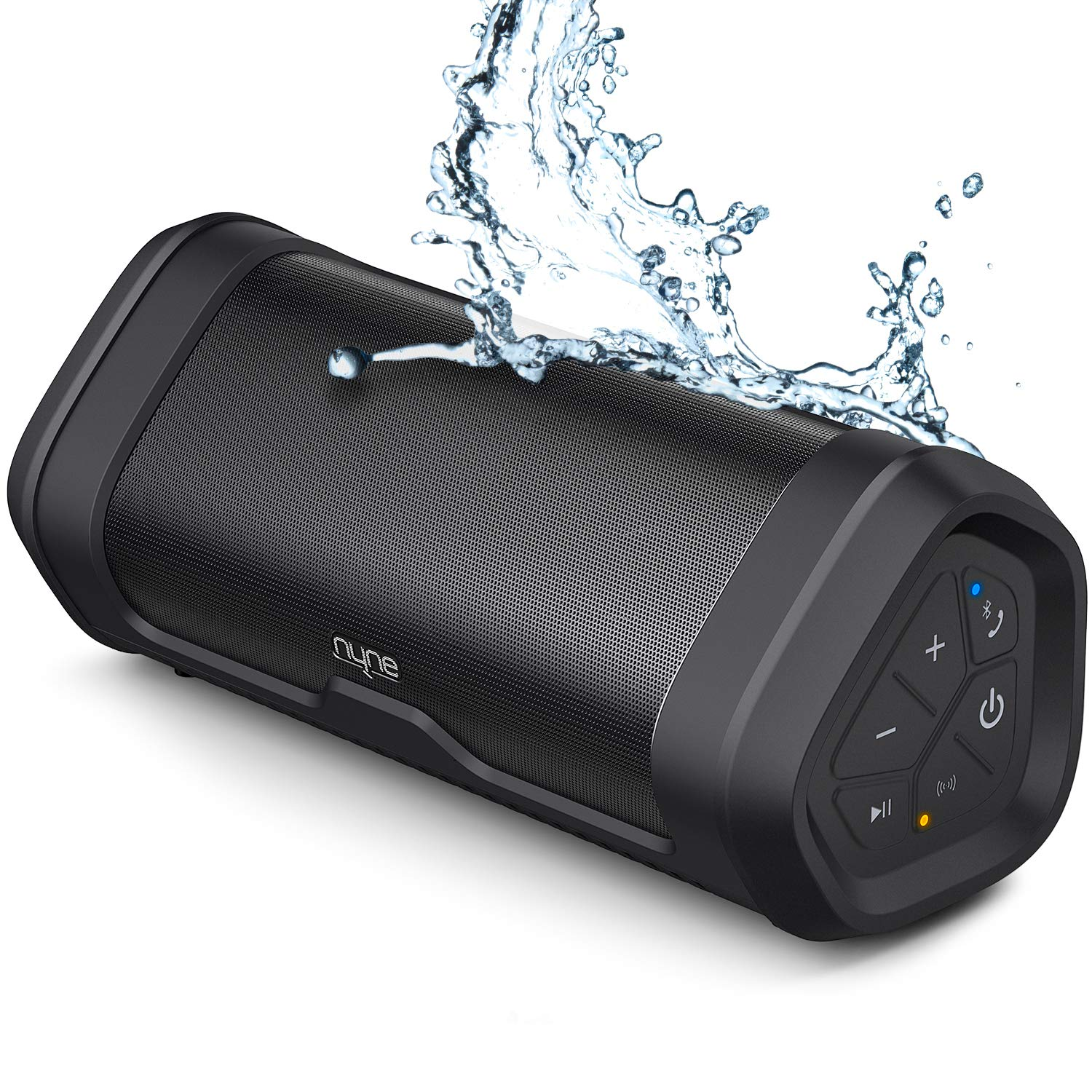 NYNE Boost Portable Waterproof Bluetooth Speakers with Premium Stereo Sound - IP67, 20 Hours Play-time, 100 ft Range, Built-in Power Bank and Mic, ...