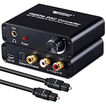 tendak Digital óptico coaxial a analógico estéreo R/L RCA y 3.5 mm Jack Audio