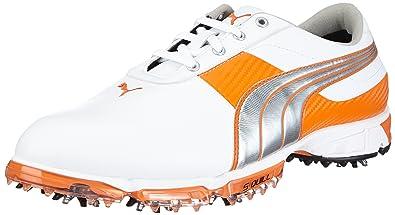 reputable site ea2e2 3fe16 Puma Spark Sport 2, Chaussures de golf homme - Blanc - Weiß (white silver