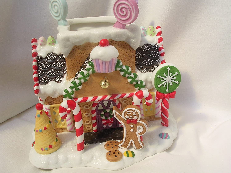 Amazon.com: Gingerbread Village #1 Christmas House Tealight 7 ...