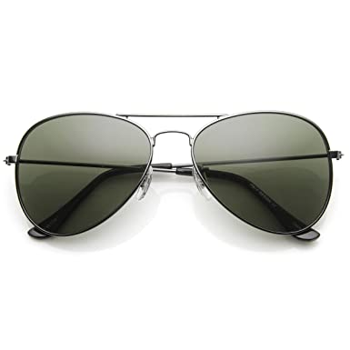 original aviator glasses  Amazon.com: zeroUV - Original Classic Metal Standard Aviator ...