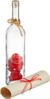 Amazon 20 beach theme message in a bottle invitations glass message in a bottle gift seal the romance solutioingenieria Choice Image
