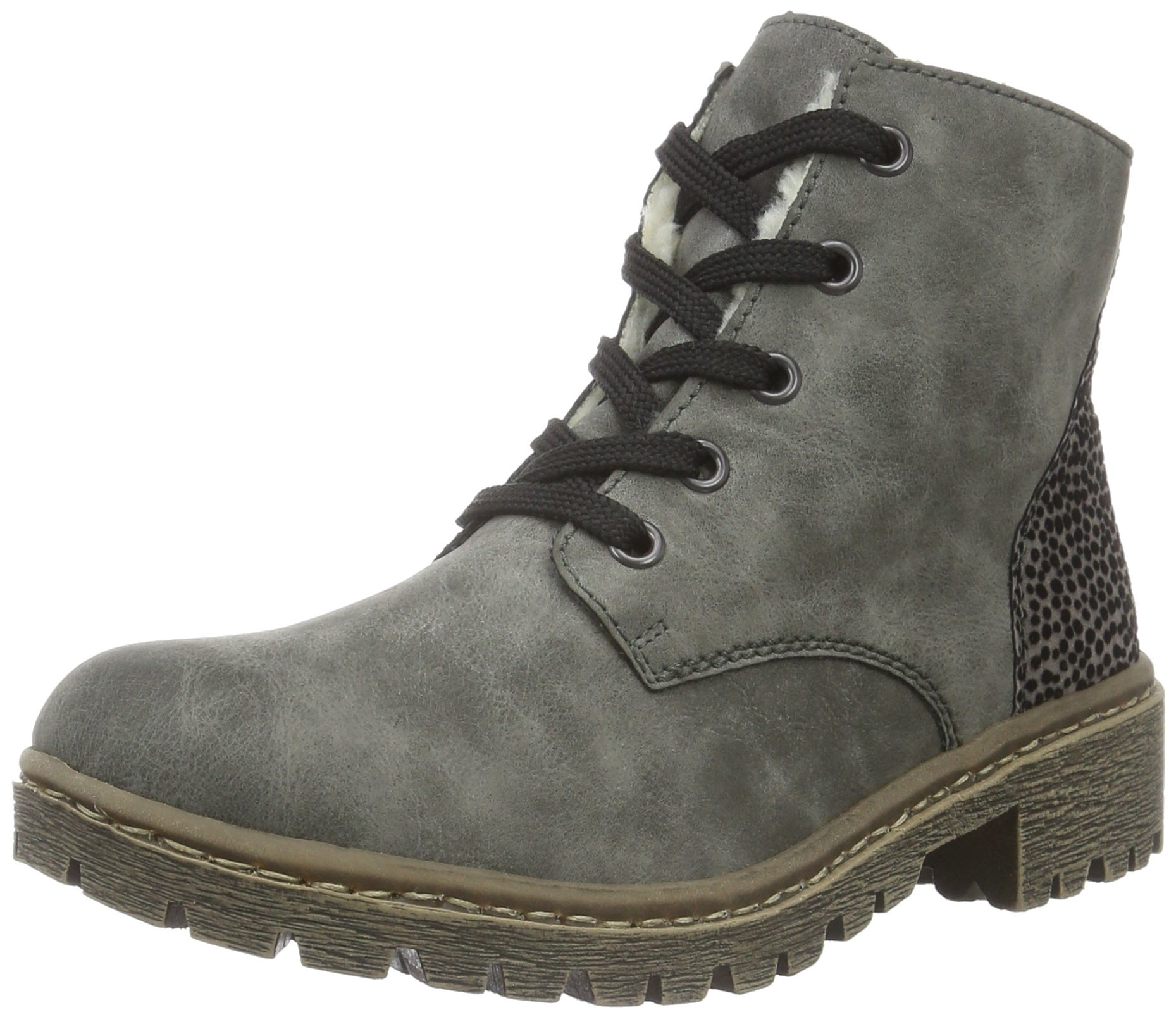 rieker womens y8300 ankle boots grey smoke grau 46 6 uk new ebay. Black Bedroom Furniture Sets. Home Design Ideas