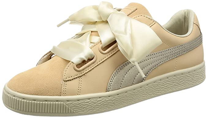 official photos bf425 8f3d5 Amazon.com: Puma Basket Heart Up Womens Sneakers Natural ...