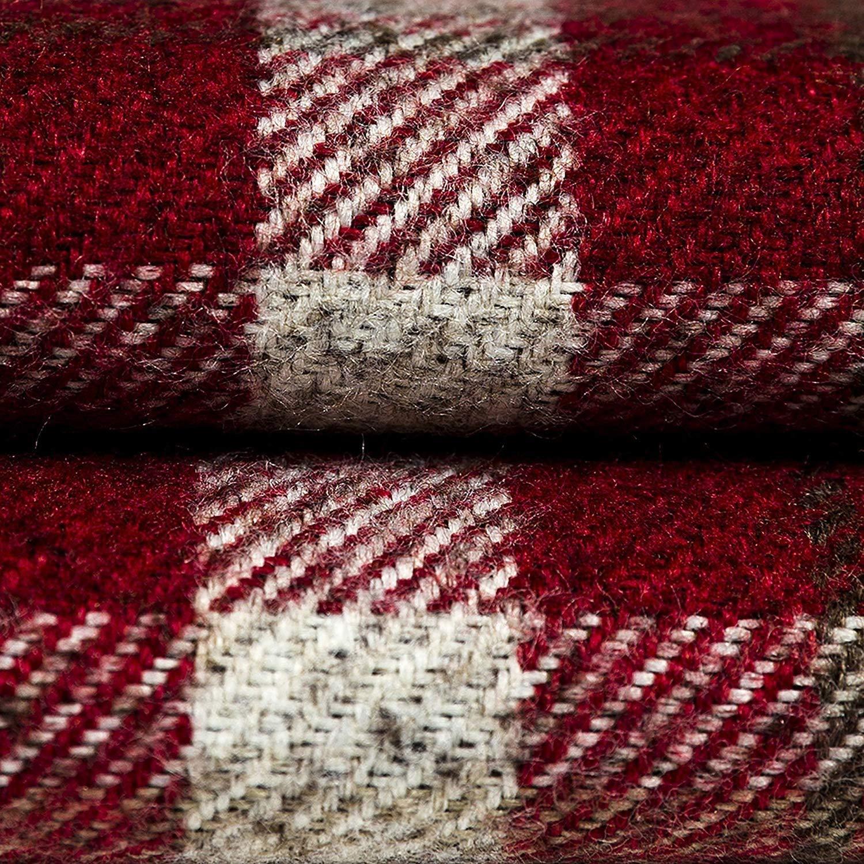 McAlister Textiles Signature Kollektion     Heritage Großer Kissenbezug im Tartan-Muster Kariert   50cm x 50cm in Rot   Deko Kissenhülle für Zierkissen, Sofa, Bett, Couch Pflegeleichtes Wolle-Gefühl B01IVXTS00 Zierkissenbezüge fcf518
